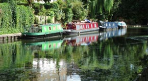 Narrow boats on canal